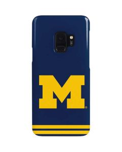 Michigan Logo Striped Galaxy S9 Lite Case