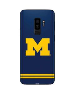 Michigan Logo Striped Galaxy S9 Plus Skin