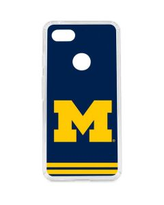 Michigan Logo Striped Google Pixel 3 XL Clear Case
