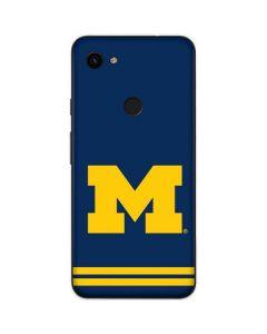 Michigan Logo Striped Google Pixel 3a Skin