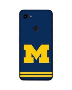 Michigan Logo Striped Google Pixel 3a XL Skin