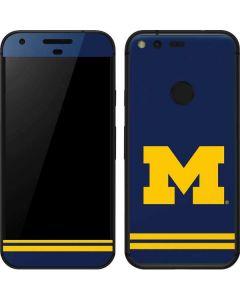 Michigan Logo Striped Google Pixel Skin
