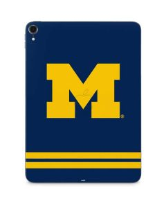 Michigan Logo Striped Apple iPad Pro Skin