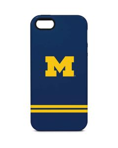 Michigan Logo Striped iPhone 5/5s/SE Pro Case