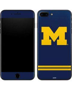 Michigan Logo Striped iPhone 7 Plus Skin