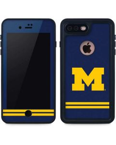Michigan Logo Striped iPhone 7 Plus Waterproof Case