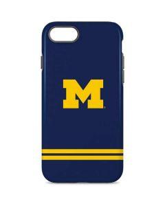 Michigan Logo Striped iPhone 7 Pro Case