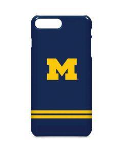 Michigan Logo Striped iPhone 8 Plus Lite Case