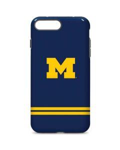 Michigan Logo Striped iPhone 8 Plus Pro Case