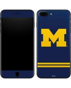 Michigan Logo Striped iPhone 8 Plus Skin