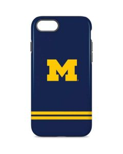 Michigan Logo Striped iPhone 8 Pro Case