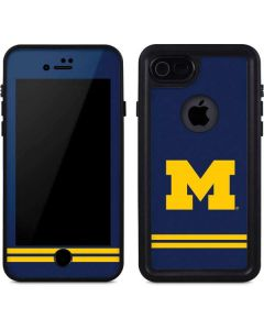 Michigan Logo Striped iPhone 8 Waterproof Case