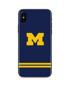 Michigan Logo Striped iPhone X Skin