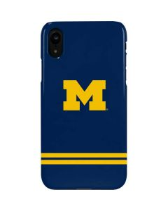 Michigan Logo Striped iPhone XR Lite Case
