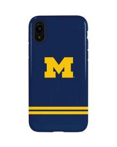 Michigan Logo Striped iPhone XR Pro Case