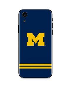 Michigan Logo Striped iPhone XR Skin