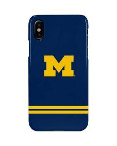 Michigan Logo Striped iPhone XS Lite Case
