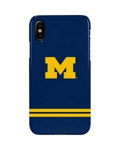 Michigan Logo Striped iPhone XS Max Lite Case