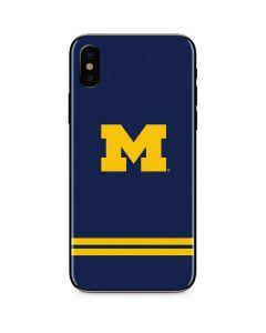 Michigan Logo Striped iPhone XS Max Skin