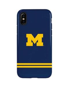 Michigan Logo Striped iPhone XS Pro Case
