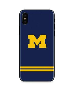 Michigan Logo Striped iPhone XS Skin