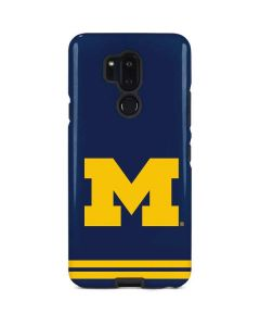 Michigan Logo Striped LG G7 ThinQ Pro Case
