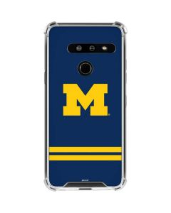Michigan Logo Striped LG G8 ThinQ Clear Case