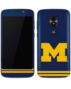 Michigan Logo Striped Moto E5 Play Skin