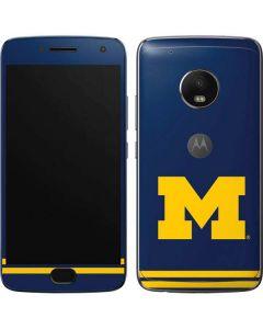 Michigan Logo Striped Moto G5 Plus Skin
