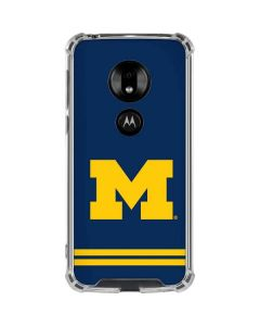 Michigan Logo Striped Moto G7 Play Clear Case