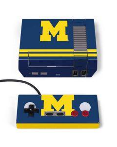 Michigan Logo Striped NES Classic Edition Skin