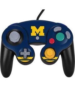 Michigan Logo Striped Nintendo GameCube Controller Skin