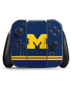 Michigan Logo Striped Nintendo Switch Joy Con Controller Skin