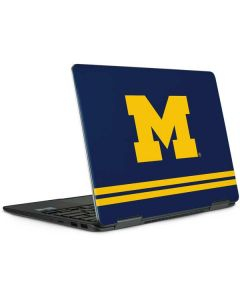Michigan Logo Striped Notebook 9 Pro 13in (2017) Skin