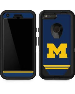 Michigan Logo Striped Otterbox Defender Pixel Skin