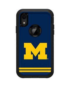 Michigan Logo Striped Otterbox Defender iPhone Skin