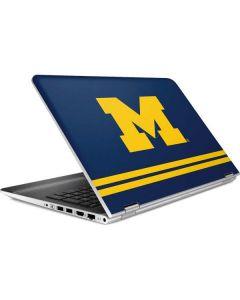 Michigan Logo Striped HP Pavilion Skin