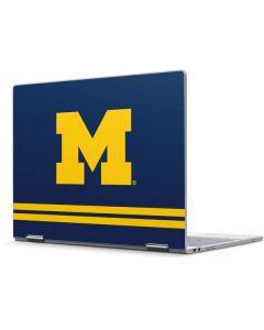 Michigan Logo Striped Pixelbook Skin