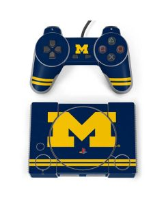 Michigan Logo Striped PlayStation Classic Bundle Skin