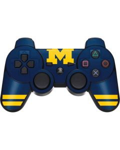 Michigan Logo Striped PS3 Dual Shock wireless controller Skin