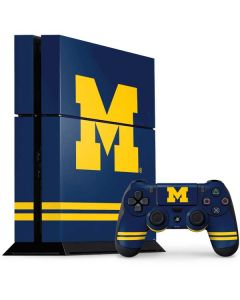 Michigan Logo Striped PS4 Console and Controller Bundle Skin