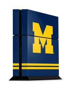 Michigan Logo Striped PS4 Console Skin