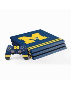 Michigan Logo Striped PS4 Pro Bundle Skin