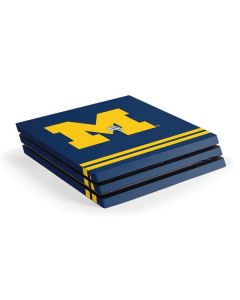 Michigan Logo Striped PS4 Pro Console Skin