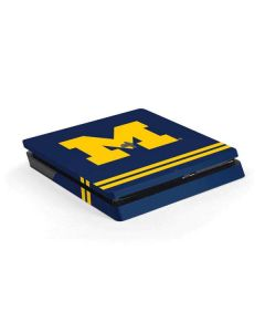 Michigan Logo Striped PS4 Slim Skin