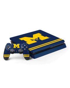 Michigan Logo Striped PS4 Slim Bundle Skin