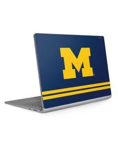 Michigan Logo Striped Surface Book 2 13.5in Skin