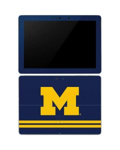 Michigan Logo Striped Surface Go Skin