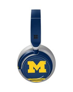 Michigan Logo Striped Surface Headphones Skin
