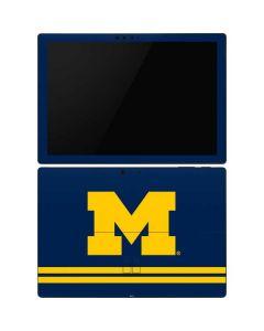 Michigan Logo Striped Surface Pro 6 Skin